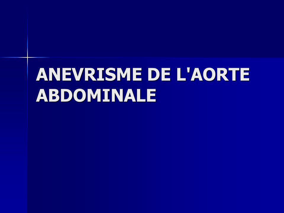 ANEVRISME DE L'AORTE ABDOMINALE .PDF