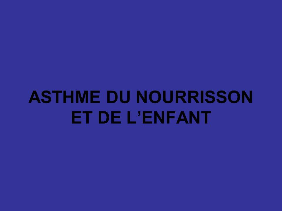 ASTHME DU NOURRISSON ET DE L'ENFANT .PDF