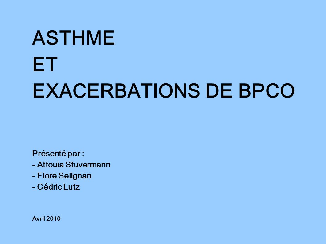 ASTHME ET EXACERBATIONS DE BPCO .PDF