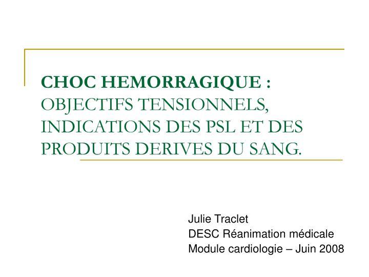 CHOC HEMORRAGIQUE .PDF