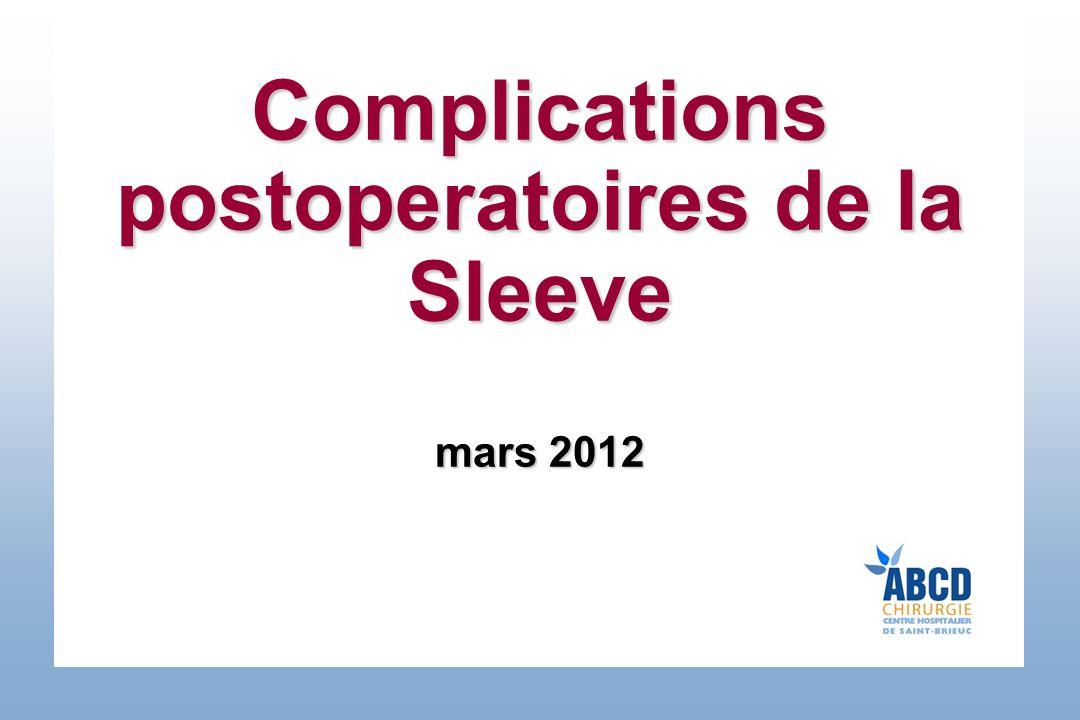 Complications postoperatoires de la Sleeve .PDF