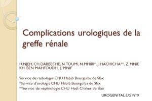 Complications urologiques de la greffe rénale .PDF