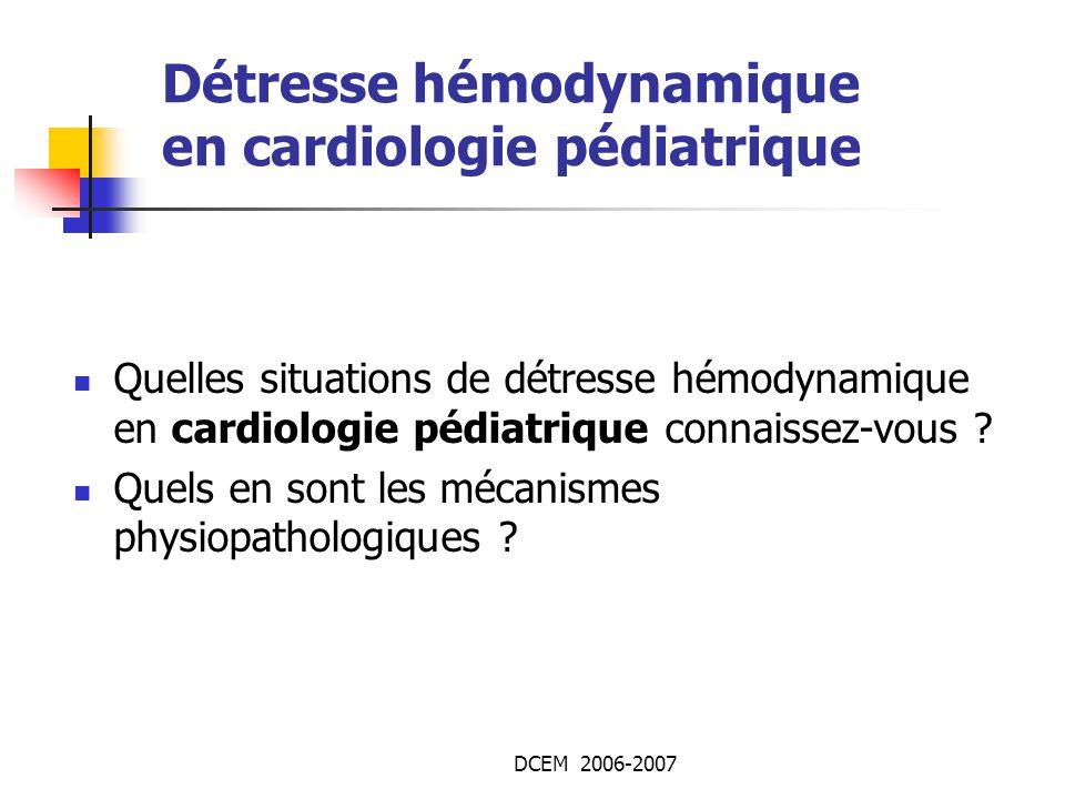 Détresse hémodynamique en cardiologie pédiatrique .PDF