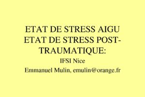 ETAT DE STRESS AIGU ETAT DE STRESS POST-TRAUMATIQUE .PDF