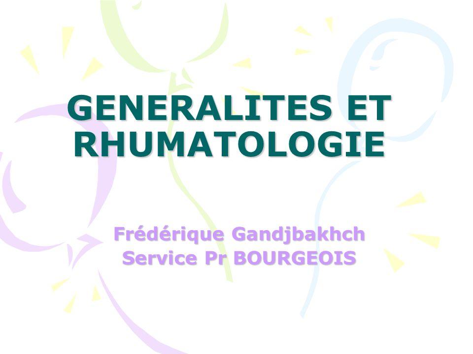 GENERALITES ET RHUMATOLOGIE .PDF