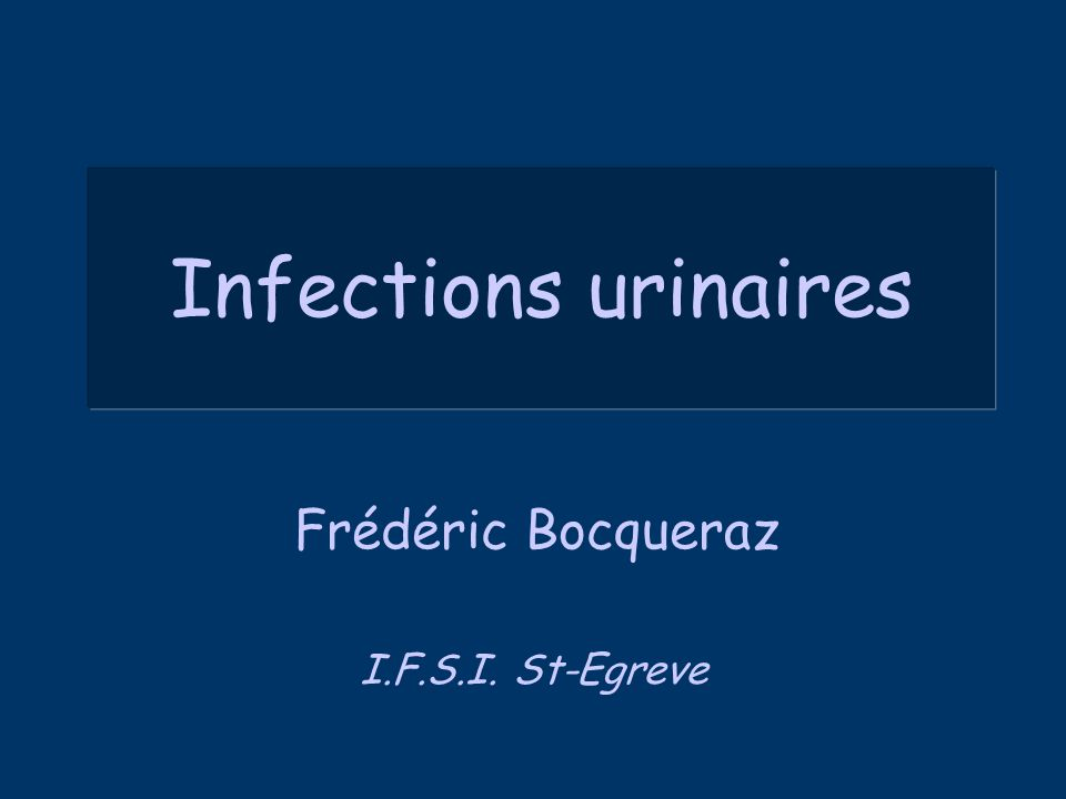Infections urinaires .PDF