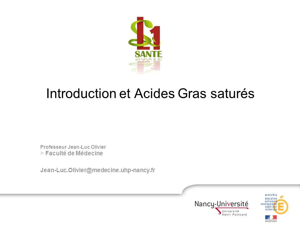 Introduction et Acides Gras saturés .PDF