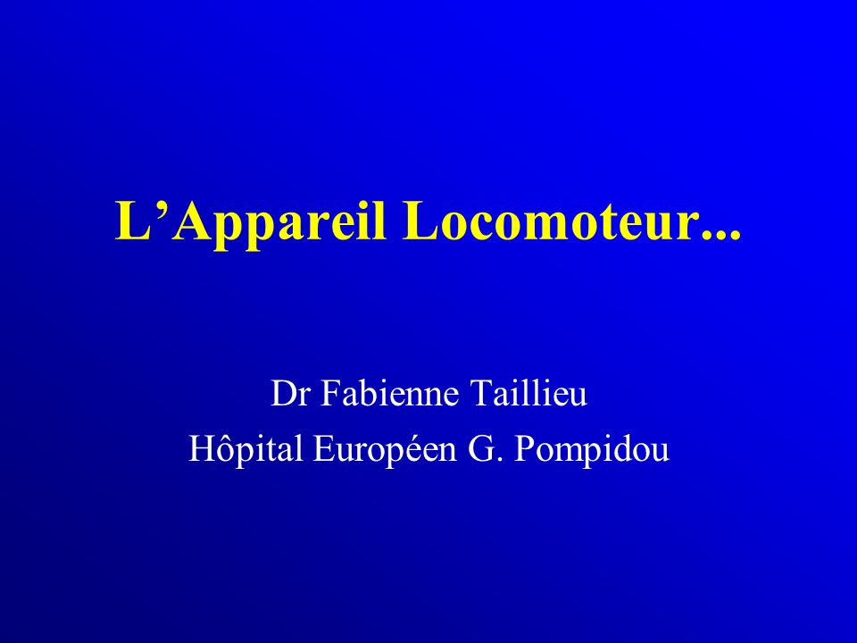 L'Appareil Locomoteur .PDF