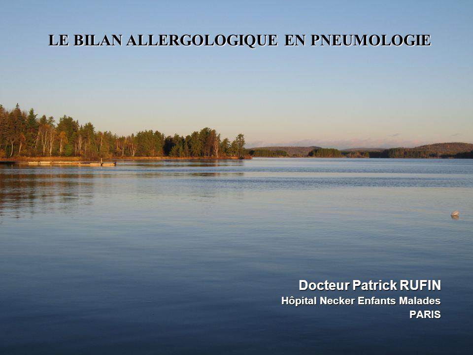LE BILAN ALLERGOLOGIQUE EN PNEUMOLOGIE .PDF