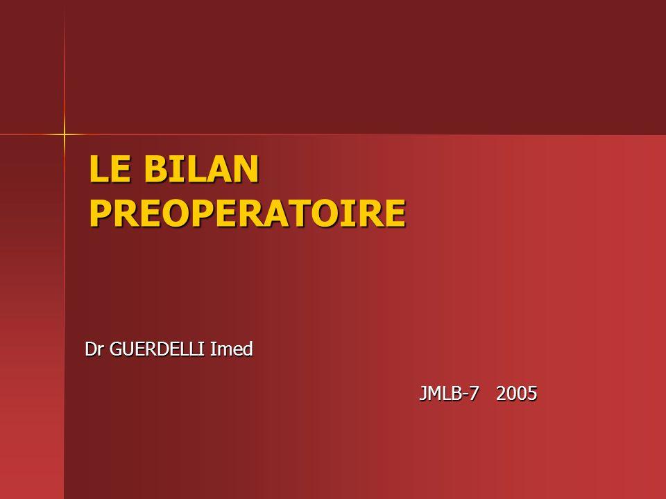 LE BILAN PRÉOPÉRATOIRE .PDF