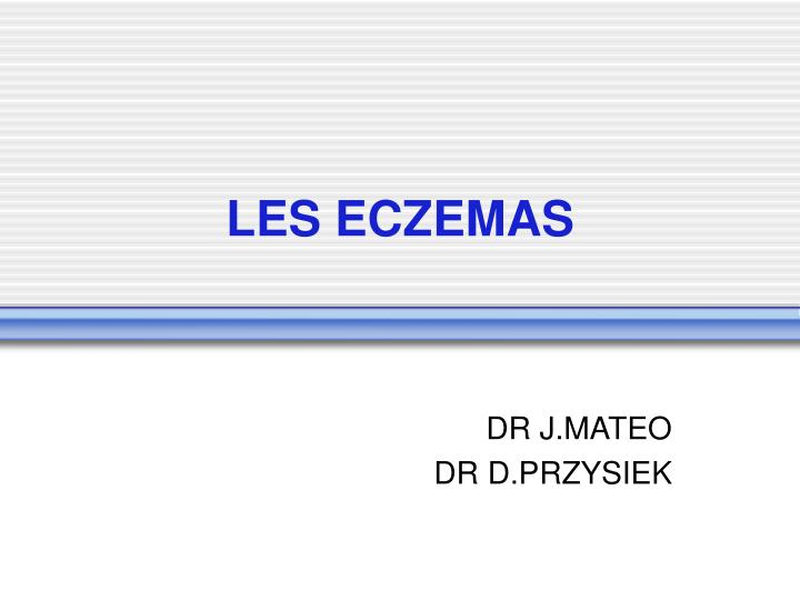 LES ECZEMAS .PDF
