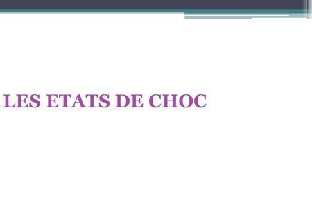 LES ETATS DE CHOC .PDF