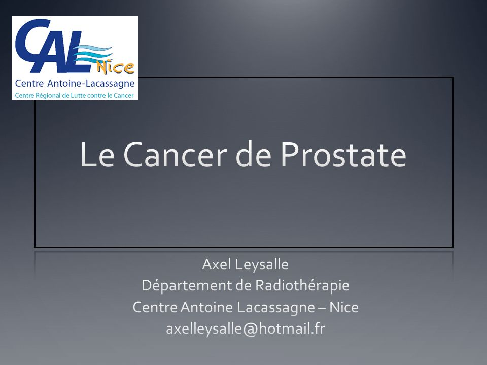 Le Cancer de Prostate .PDF