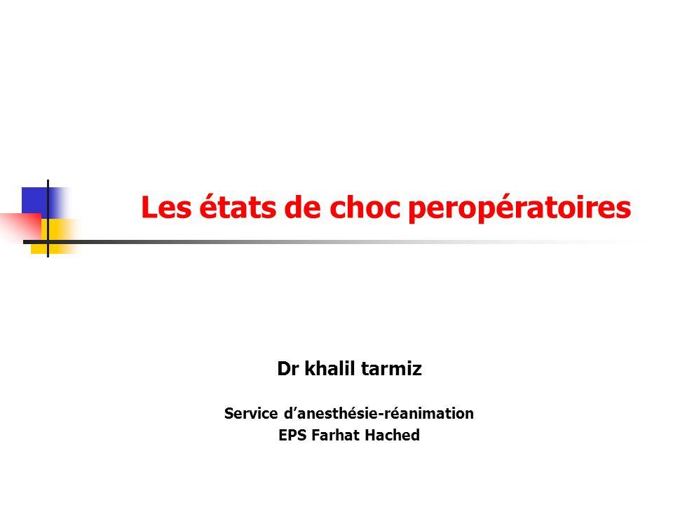 Les états de choc peropératoires .PDF