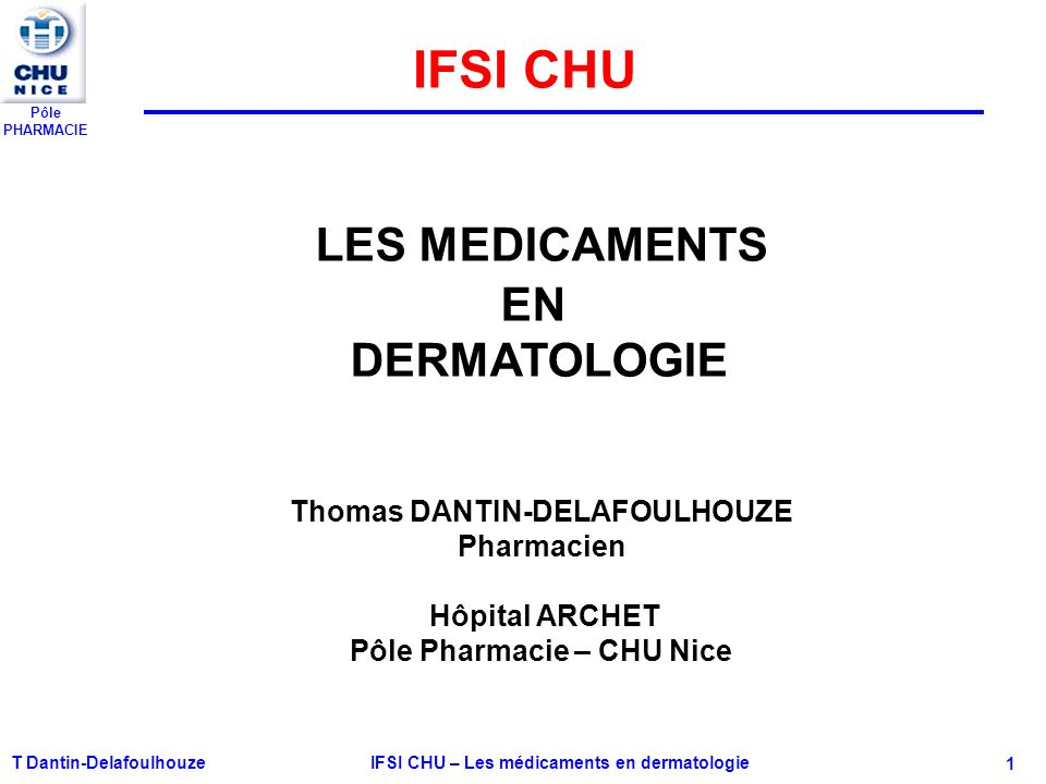 Les médicaments en dermatologie .PDF