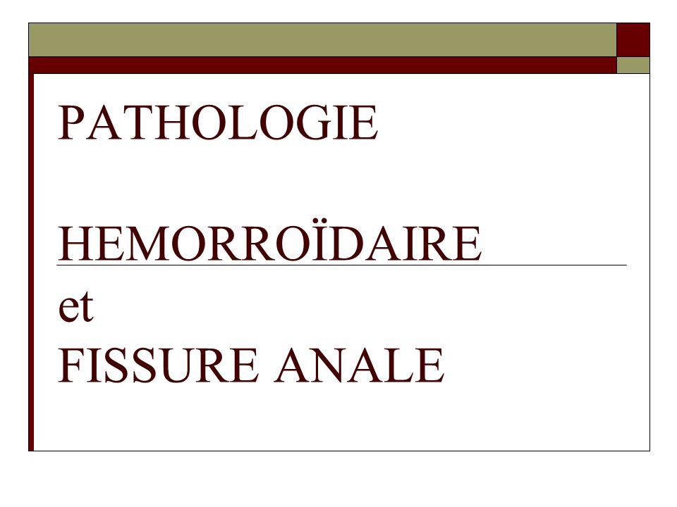 PATHOLOGIE HEMORROÏDAIRE et FISSURE ANALE .PDF
