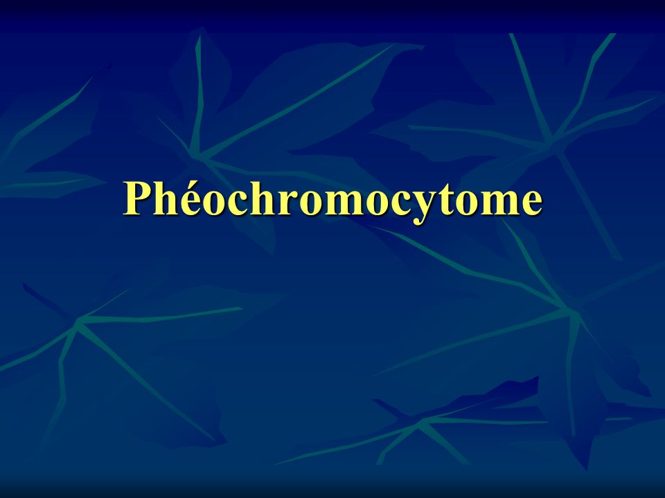 Phéochromocytome