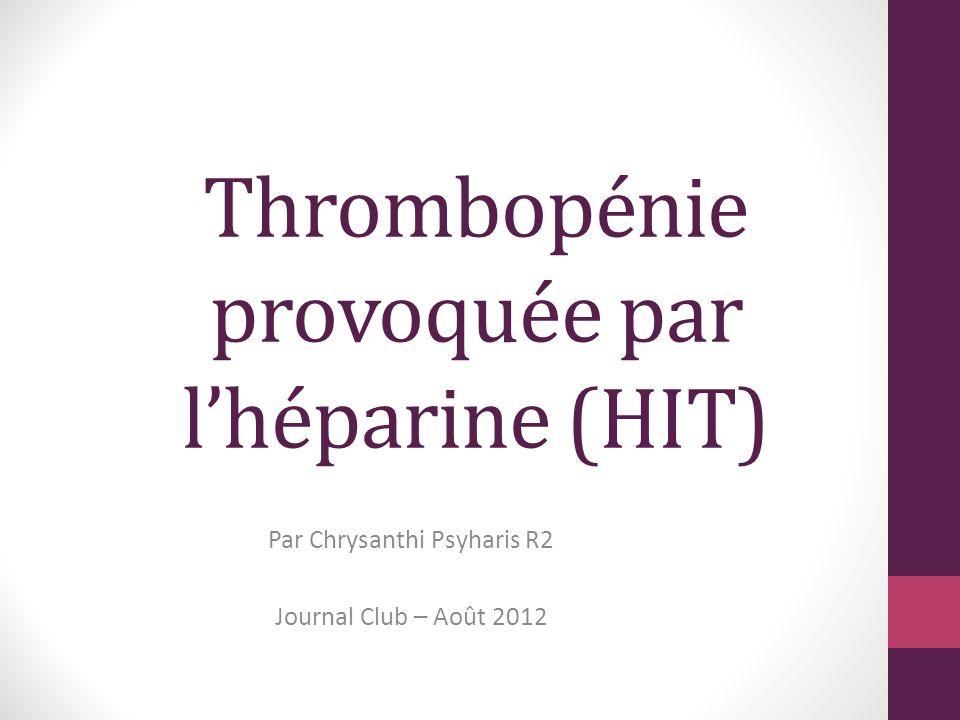 Thrombopénie provoquée par l'héparine .PDF