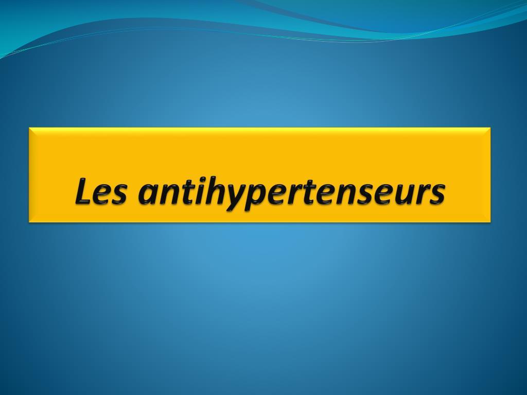 Les antihypertenseurs .PDF