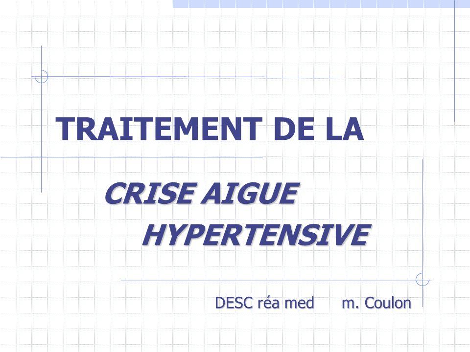 TRAITEMENT DE LA CRISE AIGUE HYPERTENSIVE .PDF