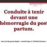 Conduite à tenir devant une hémorragie du post partum .PDF