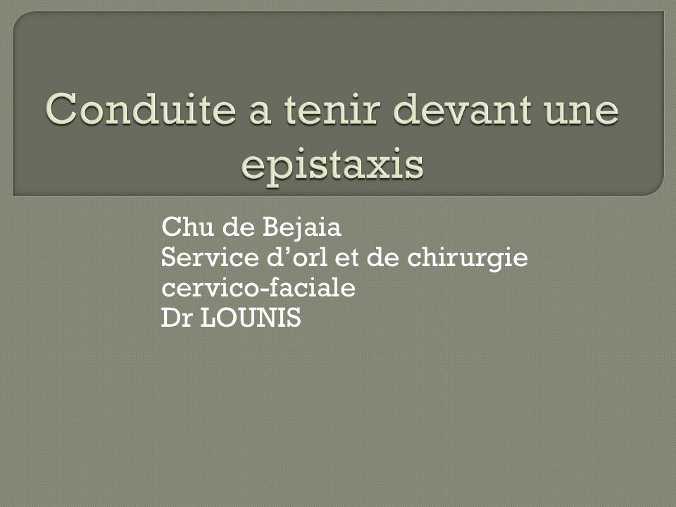 Conduite a tenir devant une epistaxis .PDF