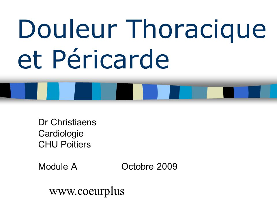 Douleur Thoracique et Péricarde .PDF