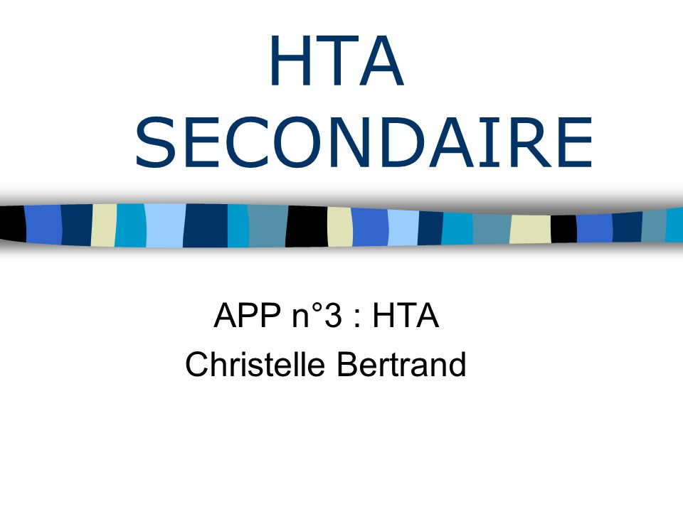 HTA SECONDAIRE .PDF