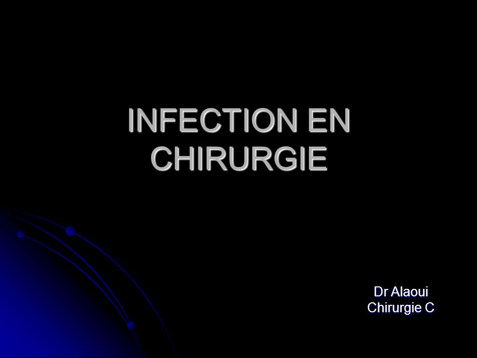 INFECTION EN CHIRURGIE .PDF