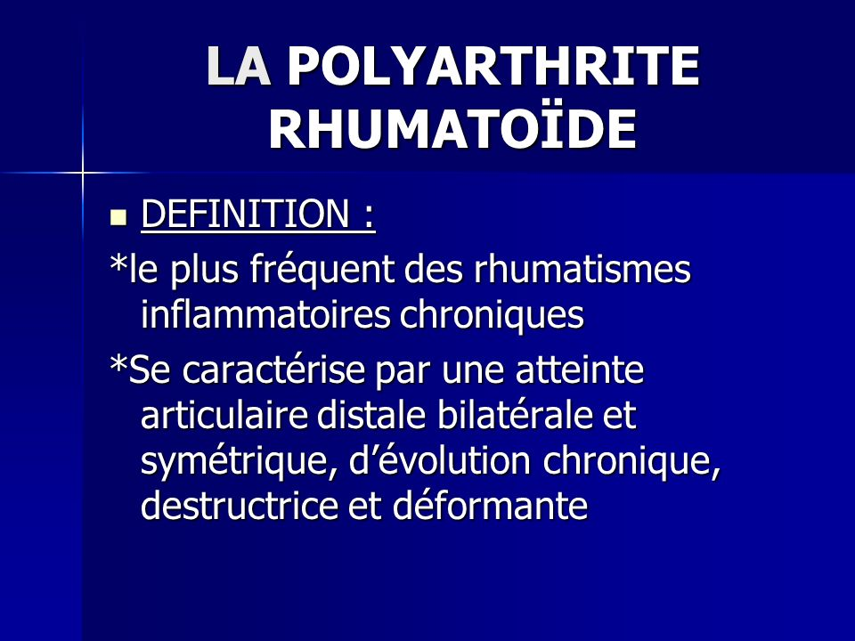 "LA POLYARTHRITE RHUMATOÏDE "" RHUMATOLOGIE "" .PDF"