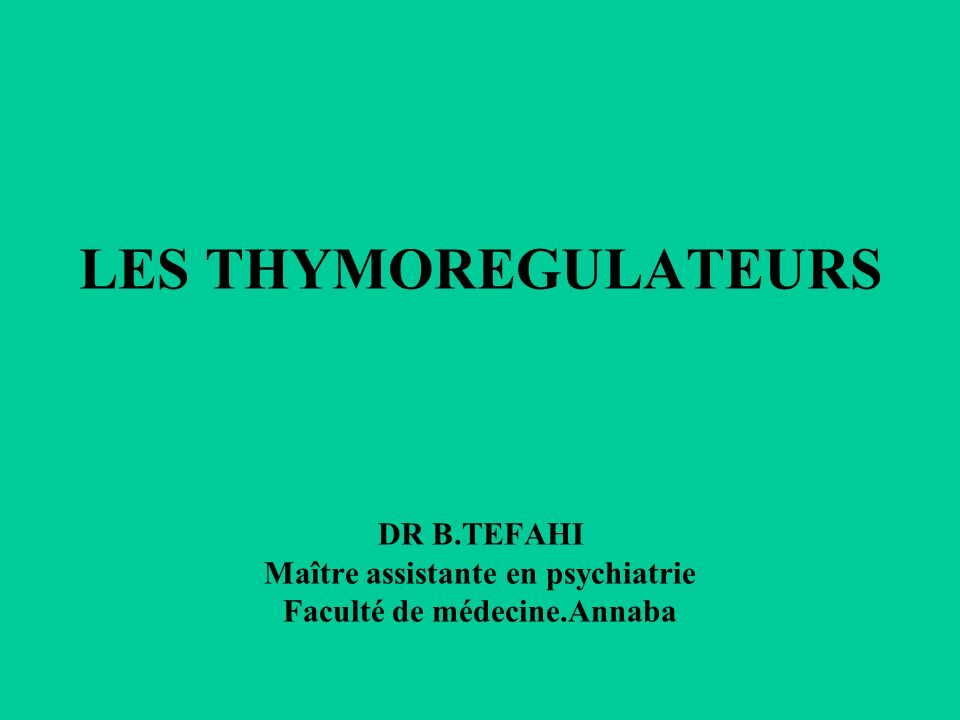 LES THYMOREGULATEURS .PDF