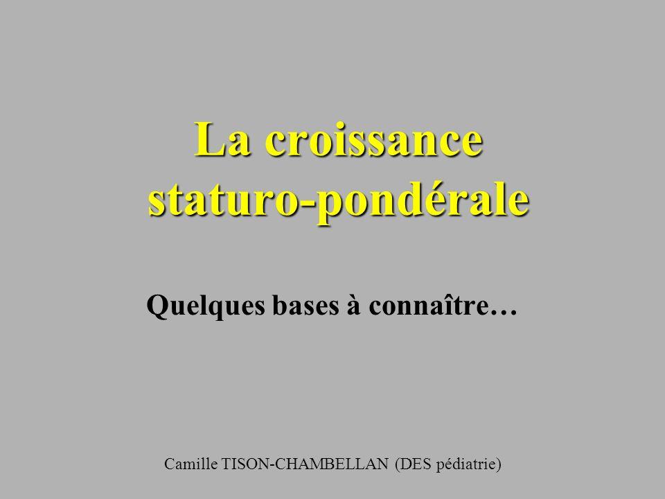 La croissance staturo-pondérale .PDF