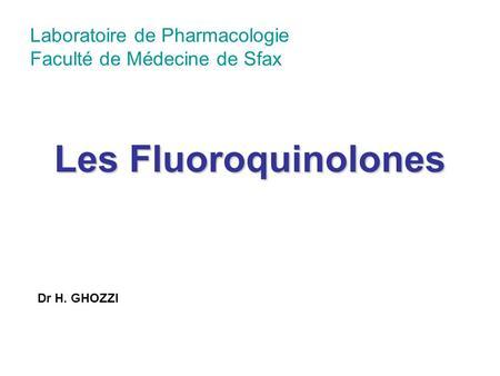 Les Fluoroquinolones .PDF