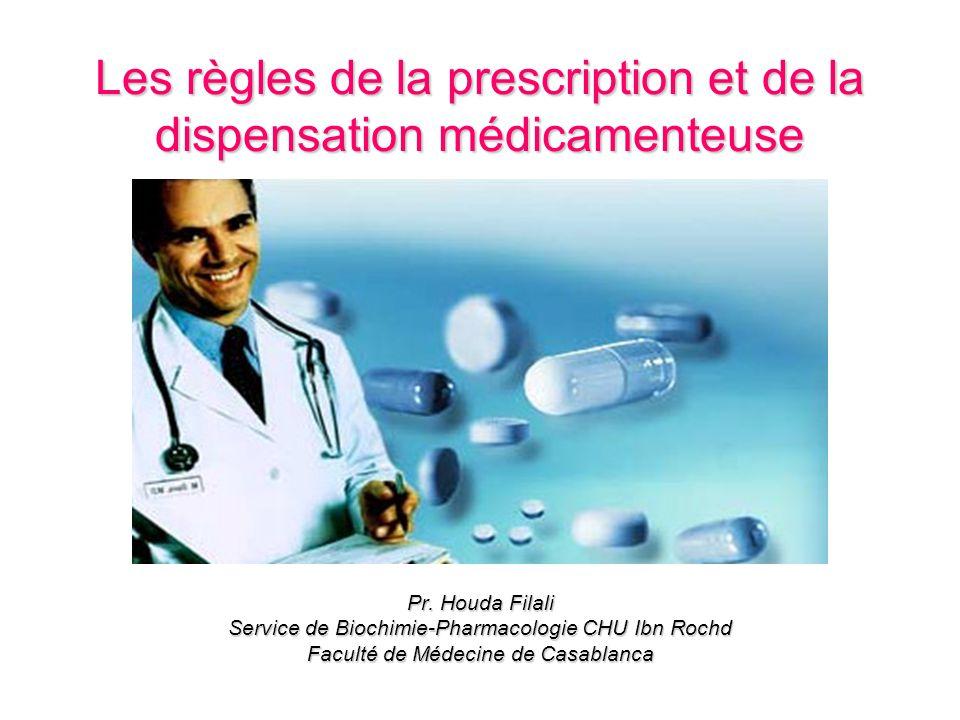 Les règles de la prescription et de la dispensation médicamenteuse .PDF