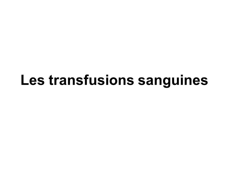 Les transfusions sanguines .PDF