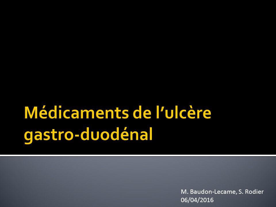 Médicaments de l'ulcère gastro-duodénal .PDF