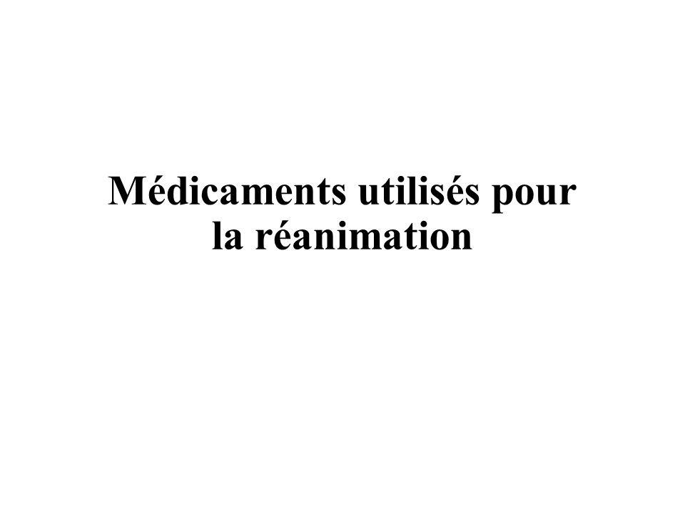 Médicaments utilisés pour la réanimation .PDF