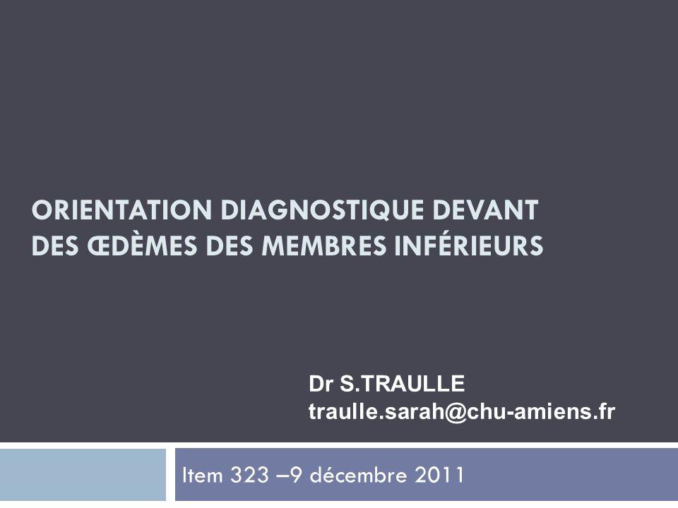 Orientation diagnostique devant des œdèmes des membres inférieurs .PDF