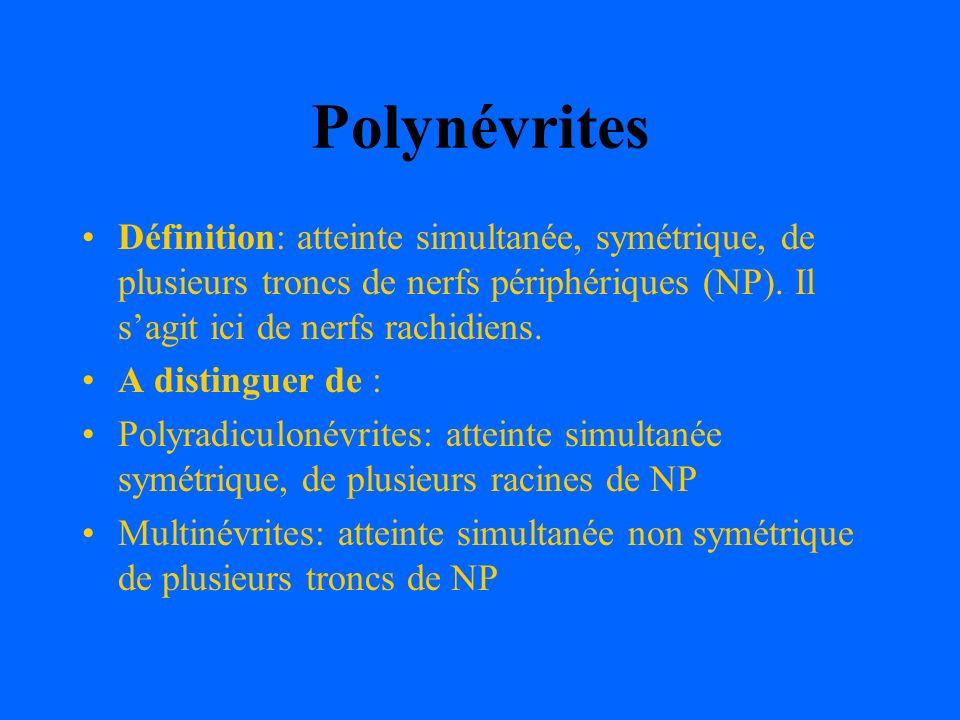 Polynévrites .PDF
