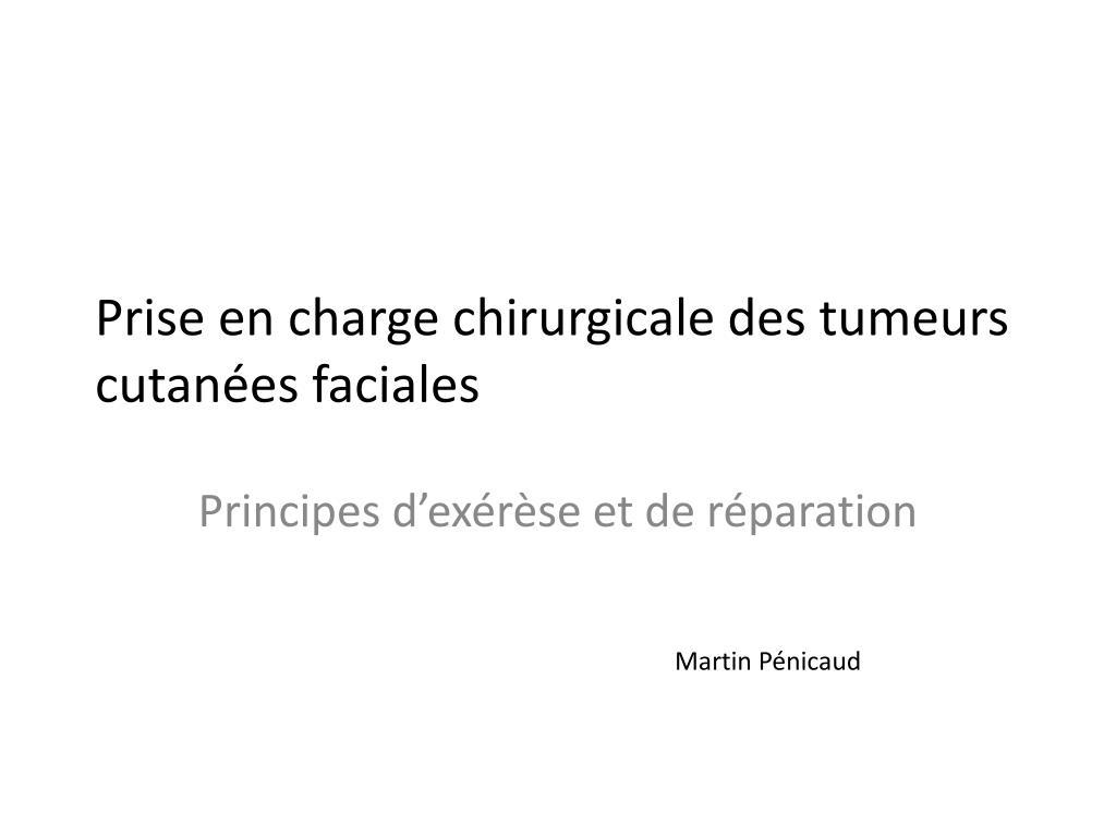 Prise en charge chirurgicale des tumeurs cutanées faciales .PDF