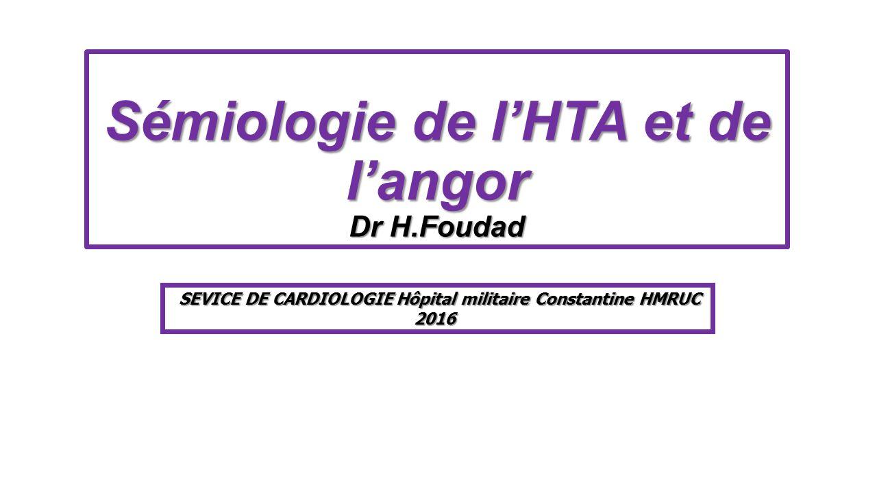 Sémiologie de l'HTA et de l'angor .PDF
