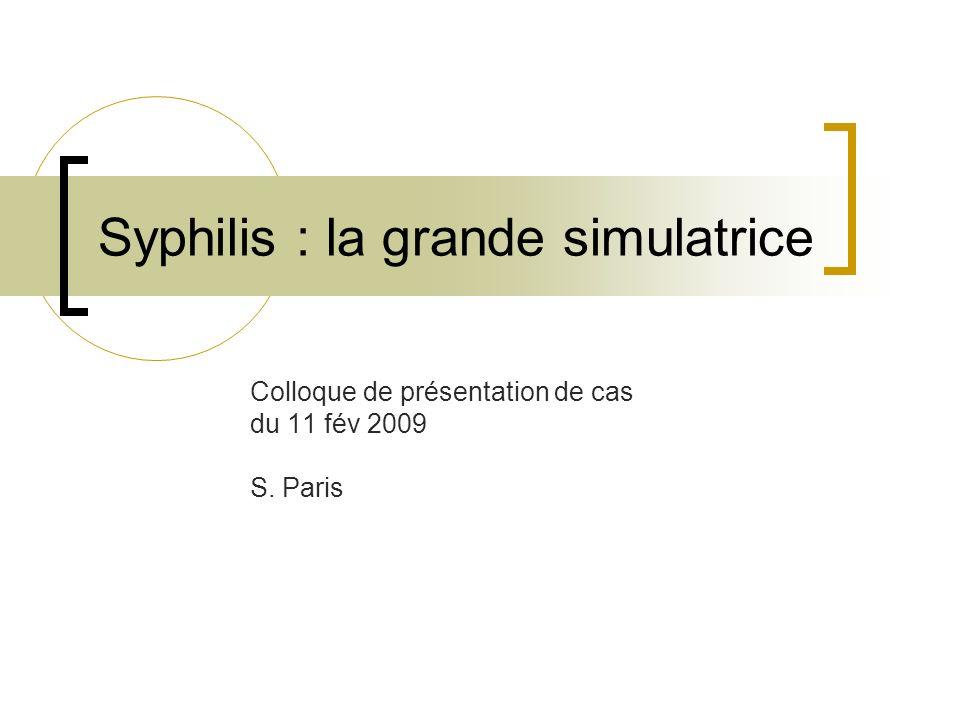 Syphilis : la grande simulatrice .PDF