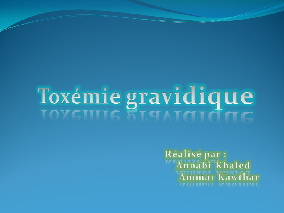 Toxémie gravidique .PDF