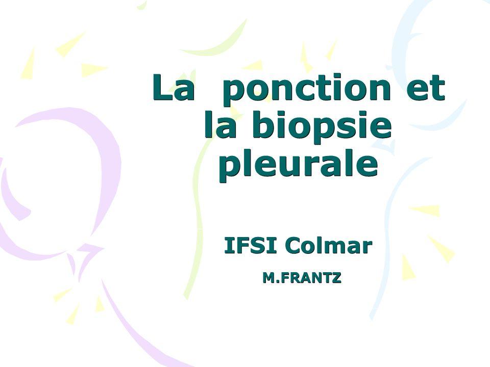 La ponction et la biopsie pleurale .PDF