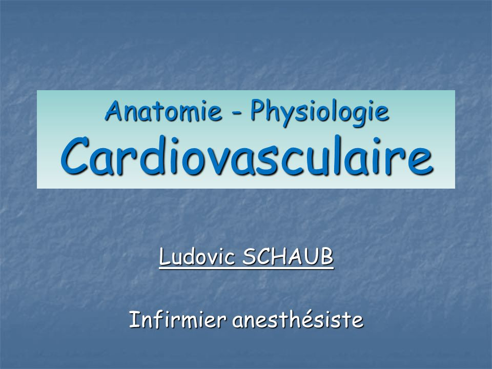 Anatomie - Physiologie Cardiovasculaire .PDF