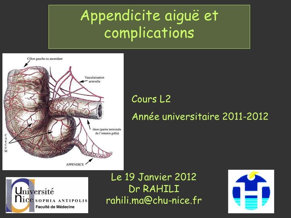 Appendicite aiguë et complications .PDF
