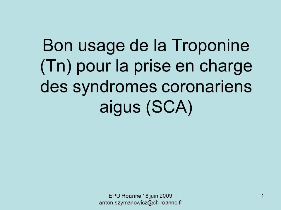Bon usage de la Troponine (Tn) pour la prise en charge des syndromes coronariens aigus (SCA) .PDF