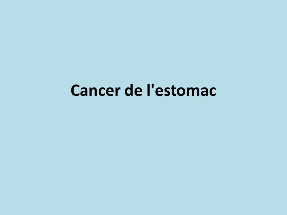 Cancer de l'estomac .PDF