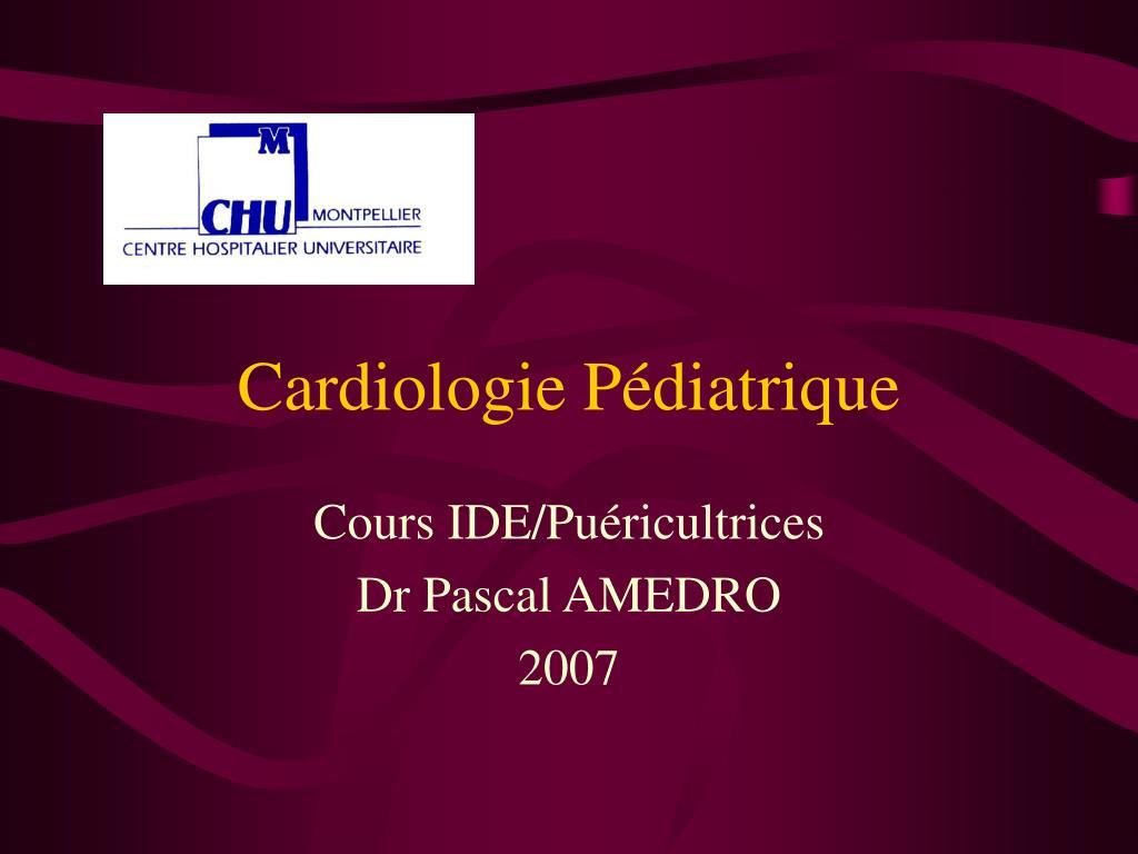 Cardiologie Pédiatrique .PDF
