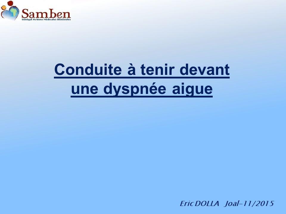 Conduite à tenir devant une dyspnée aigue .PDF